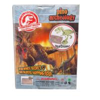 皮诺考古 考古挖掘玩具 创意DIY玩具 *模型 再现恐龙拼装版简装版恐龙模型 霸王龙三角龙剑齿虎始祖鸟梁龙5款