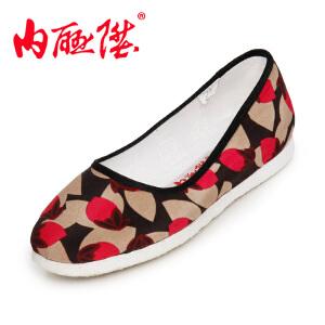 内联升 女布鞋千层底加密玉兰海元时尚休闲 老北京布鞋 8266A