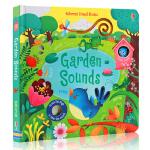 进口英文原版绘本 Garden Sounds 花园发声书 聆听花园里的各种声音 低幼英文启蒙 纸板书 Usborne