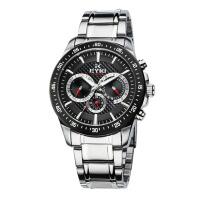 2018年新款 EYKI艾奇 多功能男士手表 全不锈钢手表 日历星期三眼钢带表 8605