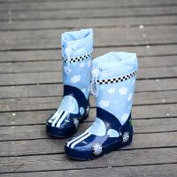 儿童橡胶雨鞋男童中大童中筒水靴女水鞋学生套鞋小孩胶鞋雨靴