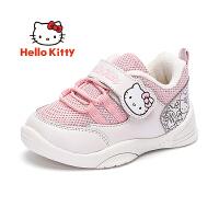 【到手价:89元】Hello Kitty凯蒂猫童鞋女童棉鞋二棉鞋2019冬季新款加绒儿童运动鞋冬鞋K9543818