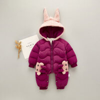 婴儿爬服婴儿秋冬季外出抱衣0-6-9-12个月加绒爬爬服宝宝连体衣冬加厚保暖XM-3 66cm(66码(建议0-3个月