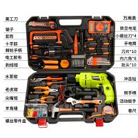 电钻工具箱套装多功能维修工具家用电工木工五金工具套装