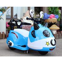 新款儿童电动摩托车三轮童车1--6岁宝宝充电小孩玩具遥控可坐人 蓝色双驱10A电瓶带遥控 蓝色