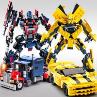 儿童拼装玩具7益智力9岁 古迪legao积木男孩子6变形机器人金刚8