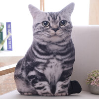 创意仿真猫咪抱枕大脸猫3d毛绒玩具女生圣诞节玩偶娃娃可爱礼物抖音 50厘米