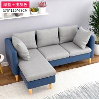 布艺沙发 小户型客厅转角三人沙发欧式沙发床家具组合套装