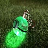 神奇宝贝宠物小精灵3D水晶球 精灵球 汽车钥匙扣挂件背包挂饰