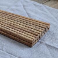 儿童筷子无漆无蜡鸡翅木筷红檀木筷实木餐具5双10双家庭装