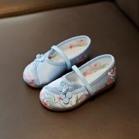 汉服女童绣花鞋儿童布鞋民族风宝宝鞋学生古装表演出鞋