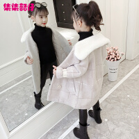 儿童中长款加厚毛呢大衣2019新款韩版洋气女童冬装外套