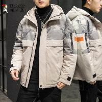 啄木鸟 棉衣男装2020年新款外套秋冬季加绒加厚羽绒棉服韩版潮流潮牌3167049744