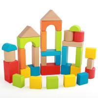 儿童大块积木玩具1-2周岁男女孩3-6岁幼儿宝宝木制8早教玩具 33粒榉木大积木
