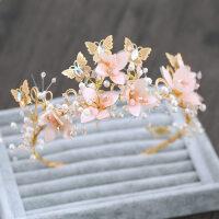 �和�皇冠�^�公主粉色花仙子�l箍�^花女童�l�花朵走秀演出�品MYZQ52 粉�t色