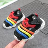夏季儿童软底鞋婴儿包头凉鞋学步鞋1-3岁宝宝毛毛虫凉鞋