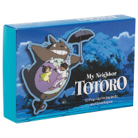 �m崎�E ���10��立�w卡片�c信封 英文原版 My Neighbor Totoro �影周��� 吉卜力工作室 英文版 �M口