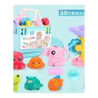 ����洗澡玩具�蛩�捏捏叫男孩女孩���和���水1-3�q套�b2浴缸男孩�和�����玩具
