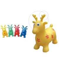 儿童充气跳跳鹿跳跳马跳跳牛可爱动物儿童充气玩具送脚踩泵幼儿园玩具 充气摇马(款式随机)