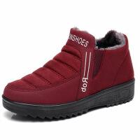 冬季老北京布鞋女平底加绒保暖老人奶奶鞋软底中老年妈妈棉鞋