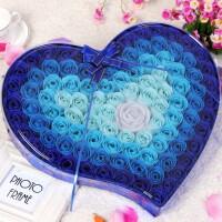 99朵小熊玫瑰香皂花礼盒浪漫生日礼物情人节送女生朋友的惊喜