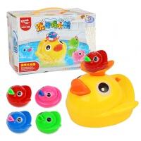 宝宝洗澡玩具喷水鸭儿童戏水玩具女孩男孩婴儿电动小黄鸭花洒 喷水洗澡黄鸭