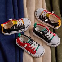 儿童帆布鞋宝宝男童鞋子女童鸳鸯鞋小童软底布鞋春秋款一脚蹬板鞋