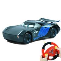 正版赛车总动员Cars3遥控汽车闪电麦昆儿童男孩玩具车惯性车模型 遥控款[超大号四通道]黑风暴杰克逊 官方标配