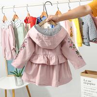 小女孩儿童上衣女宝宝秋装风衣2019新款秋装洋气童装女童外套