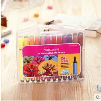 创意文具MARCO马可1232 12 18 24儿童色水彩色笔套装 儿童 三角粗杆可水洗 水彩笔 涂鸦笔