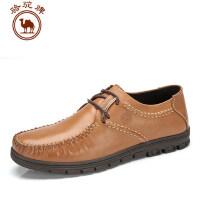 骆驼牌透气鞋男鞋休闲皮鞋 男士鞋子夏季英伦时尚鞋子