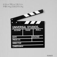 复古木质电影拍板场记板导演板打板橱窗装饰影楼儿童摄影道具摆件