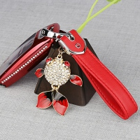 钥匙挂件金鱼小熊皮扣可爱简约网红个性创意高档情侣汽车钥匙挂饰