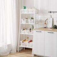 厨房置物架落地多层阳台架子铁艺书架客厅储物北欧卧室杂物收纳架