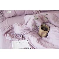 被套纱布棉纱双层纱床单四件套全棉紫色的少女神浪漫紫心定制