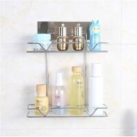 新品不锈钢无痕肥皂架免打孔单层双层带钩肥皂架浴室厨房置物架收纳盒