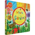 Who's in the Garden? 英文原版 谁藏在花园里 绘本纸板书 大开本躲猫猫洞洞书 Barefoot