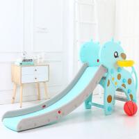 儿童滑滑梯室内家用单滑梯幼儿园滑梯加厚宝宝小型滑滑梯乐园玩具 蓝色 护栏音乐长颈鹿