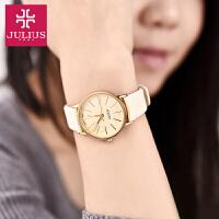 2017年新款 Julius/聚利时简约女士手表 幸福风情侣手表之女表 金色 JA-387