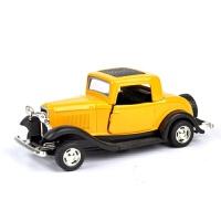 仿真汽车模型摆件回力车声光玩具1:32合金福特复古