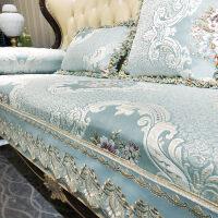欧式沙发垫子四季通用布艺坐垫真皮防滑美式沙发套罩全盖