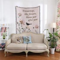 欧式田园挂毯沙发毯沙发巾线毯装饰毯地毯加厚全盖单人定制