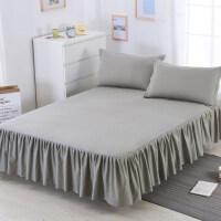 纯棉床罩全棉床裙式单件席梦思保护套1.5/1.8/2.0m米床单床套防滑