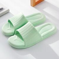 凉拖鞋女夏季洗澡防滑浴室塑料木地板室内家居家用情侣厚底拖鞋男