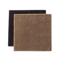 玉米粒吸水抹布厨房清洁布毛巾2条 加厚擦手巾洗碗布 咖啡+灰色 2片装