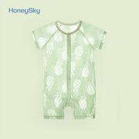 婴儿衣服夏季宝宝婴儿薄款宝宝连体衣宝宝夏装短袖外出哈衣