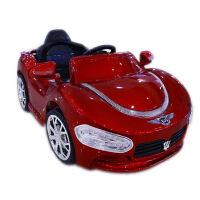 儿童电动车四轮跑车可坐小孩遥控车宝宝玩具1/2/3岁童车充电汽车 升级酒红 自驾遥控摇摆+可插U盘