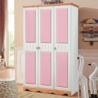 实木衣柜推拉门组装2门3门4门家用木质衣橱包安装大衣柜 4门 组装