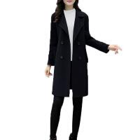 大码毛呢女装外套秋冬韩版新款中长款宽松显瘦女式呢子大衣潮