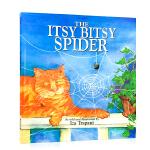 英文原版绘本 The Itsy Bitsy Spider 廖彩杏推荐 入门儿歌童谣 韵文与歌谣 儿童图画书 小蜘蛛爬啊